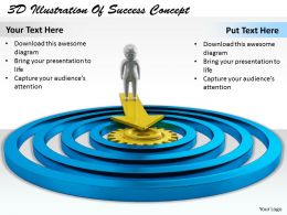 1113 3D Illustration Of Success Concept Ppt Graphics Icons Powerpoint