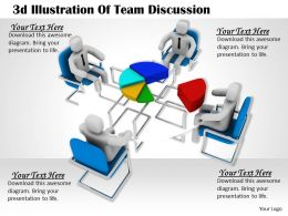 1113 3d Illustration Of Team Discussion Ppt Graphics Icons Powerpoint