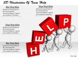 1113 3D Illustration Of Team Help Ppt Graphics Icons Powerpoint