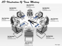 1113 3D Illustration Of Team Meeting Ppt Graphics Icons Powerpoint