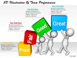 1113 3D Illustration Of Team Performance Ppt Graphics Icons Powerpoint