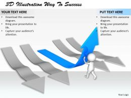 1113 3D Illustration Way To Success Ppt Graphics Icons Powerpoint