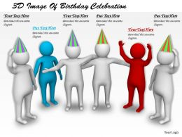 1113 3D Image Of Birthday Celebration Ppt Graphics Icons Powerpoint