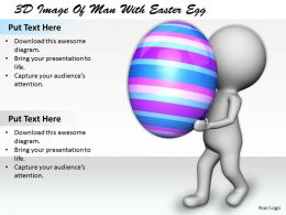 1113 3D Image Of Man With Easter Egg Ppt Graphics Icons Powerpoint