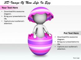 1113 3D Image Of New Life In Egg Ppt Graphics Icons Powerpoint