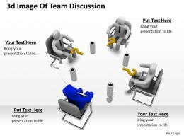 1113 3d Image Of Team Discussion Ppt Graphics Icons Powerpoint