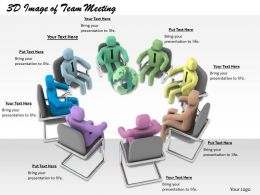 1113 3D Image Of Team Meeting Ppt Graphics Icons Powerpoint