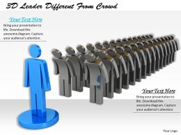 1113 3D Leader Different From Crowd Ppt Graphics Icons Powerpoint