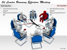 1113 3d Leader Running Effective Meeting Ppt Graphics Icons Powerpoint