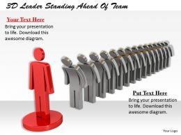 1113 3D Leader Standing Ahead Of Team Ppt Graphics Icons Powerpoint