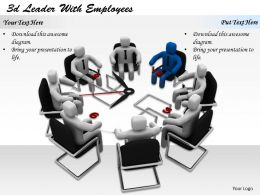 1113 3d Leader With Employees Ppt Graphics Icons Powerpoint