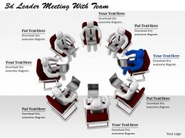 1113 3d Ledaer Meeting With Team Ppt Graphics Icons Powerpoint