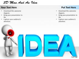1113 3D Man And An Idea Ppt Graphics Icons Powerpoint