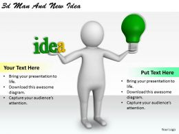 1113 3d Man And New Idea Ppt Graphics Icons Powerpoint