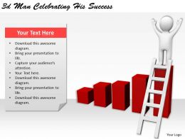 1113 3d Man Celebrating His Success Ppt Graphics Icons Powerpoint