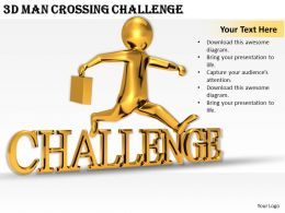 1113_3d_man_crossing_challenge_ppt_graphics_icons_powerpoint_Slide01