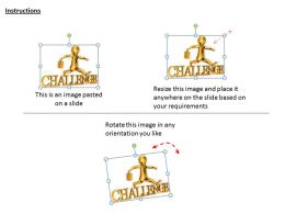 1113 3d Man Crossing Challenge Ppt Graphics Icons Powerpoint