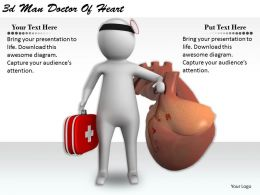 1113 3d Man Doctor Of Heart Ppt Graphics Icons Powerpoint