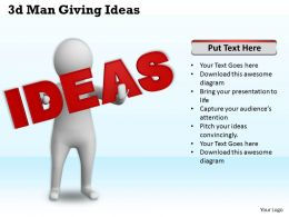 1113 3d Man Giving Ideas Ppt Graphics Icons Powerpoint