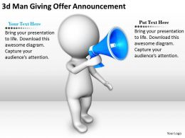 1113_3d_man_giving_offer_announcement_ppt_graphics_icons_powerpoint_Slide01
