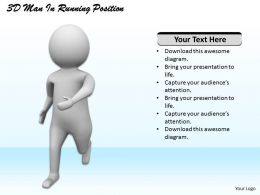 1113 3D Man In Running Position Ppt Graphics Icons Powerpoint
