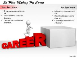 1113 3d Man Making His Career Ppt Graphics Icons Powerpoint
