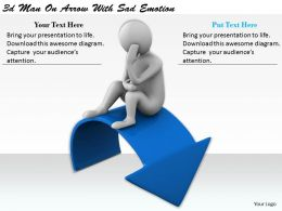 1113 3d Man On Arrow With Sad Emotion Ppt Graphics Icons Powerpoint