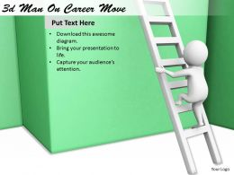 1113 3d Man On Career Move Ppt Graphics Icons Powerpoint