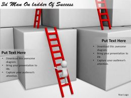 1113 3d Man On ladder Of Success Ppt Graphics Icons Powerpoint