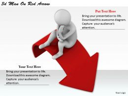 1113 3d Man On Red Arrow Ppt Graphics Icons Powerpoint