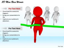 1113 3D Man Race Winner Ppt Graphics Icons Powerpoint