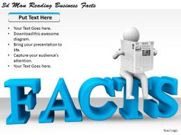 1113 3d Man Reading Business Facts Ppt Graphics Icons Powerpoint