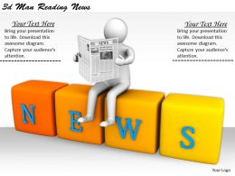 1113 3d Man Reading News Ppt Graphics Icons Powerpoint