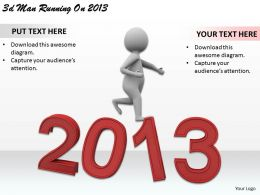 1113 3d Man Running On 2013 Ppt Graphics Icons Powerpoint