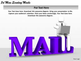 1113 3d Man Sending Mails Ppt Graphics Icons Powerpoint