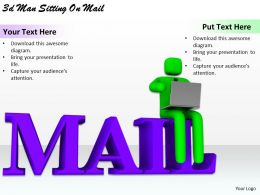 1113 3d Man Siting On Mail Ppt Graphics Icons Powerpoint