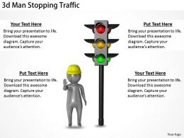 1113 3d Man Stopping Traffic Ppt Graphics Icons Powerpoint