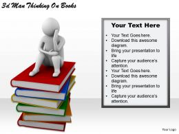 1113 3d Man Thinking On Books Ppt Graphics Icons Powerpoint