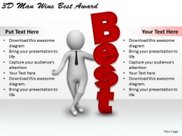 1113 3D Man Wins Best Award Ppt Graphics Icons Powerpoint