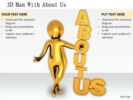 1113 3D Man With About Us Ppt Graphics Icons Powerpoint