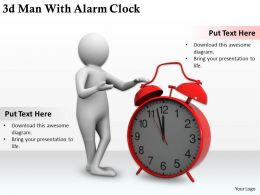 1113 3d Man With Alarm Clock Ppt Graphics Icons Powerpoint