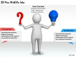 1113 3D Man With An Idea Ppt Graphics Icons Powerpoint