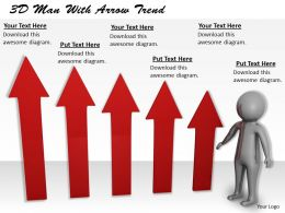 1113 3D Man With Arrow Trend Ppt Graphics Icons Powerpoint