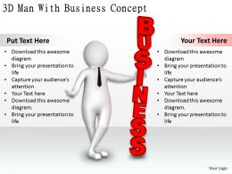1113 3D Man With Business Concept Ppt Graphics Icons Powerpoint