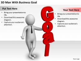 1113 3D Man With Business Goal Ppt Graphics Icons Powerpoint