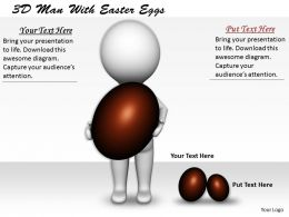 1113 3D Man With Easter Eggs Ppt Graphics Icons Powerpoint