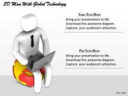 1113 3D Man With Global Technology Ppt Graphics Icons Powerpoint