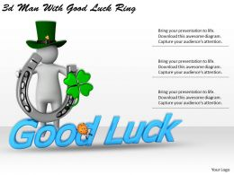 1113 3d Man With Good Luck Ring Ppt Graphics Icons Powerpoint