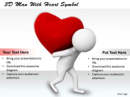 1113 3D Man With Heart Symbol Ppt Graphics Icons Powerpoint