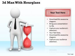 1113 3d Man With Hourglass Ppt Graphics Icons Powerpoint